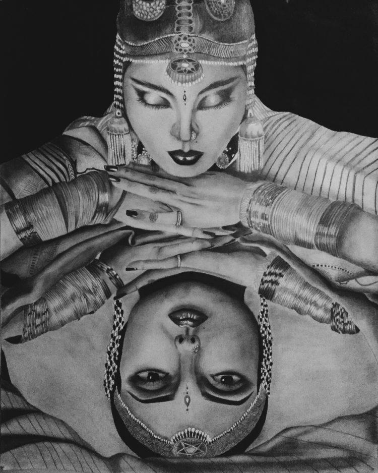 PRINTS AVAILABLE inspired by Rekha from Utsav email mahrukhizar.1999@gmail.com 20170519_223831