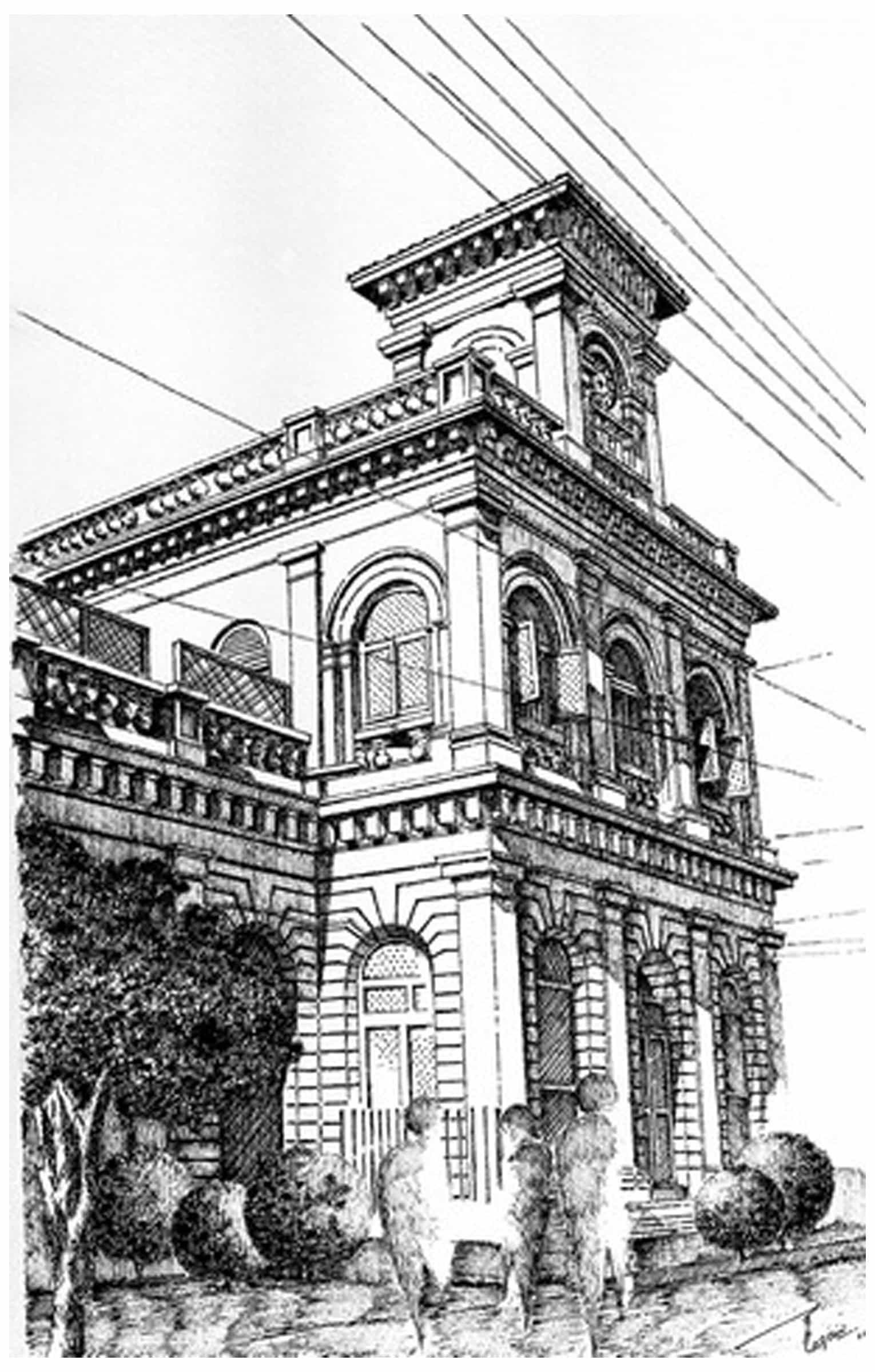 Edulgee Dinshaw Building Karachi Pakistan Drawings By
