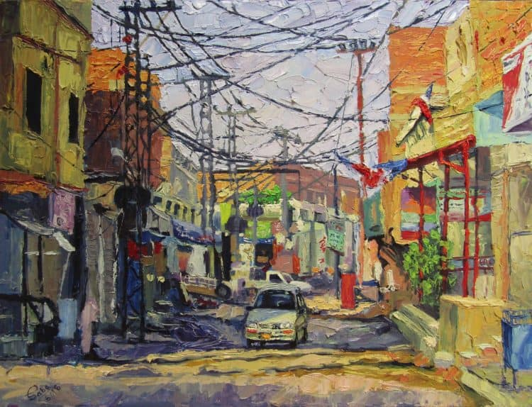 Shahbaz Town Qasimabad Oil on canvas 24″/18″ Shahbaz town Qasimabad3
