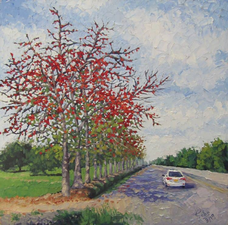 Spring-II Oil on canvas 24″/24″ Spring-II