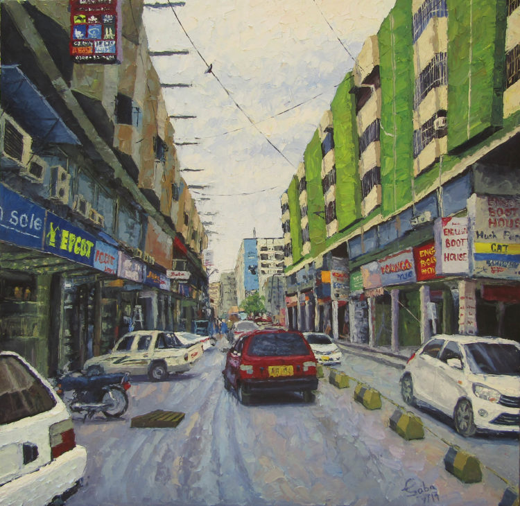 Chandni Cantt Oil on canvas Chandni Cantt
