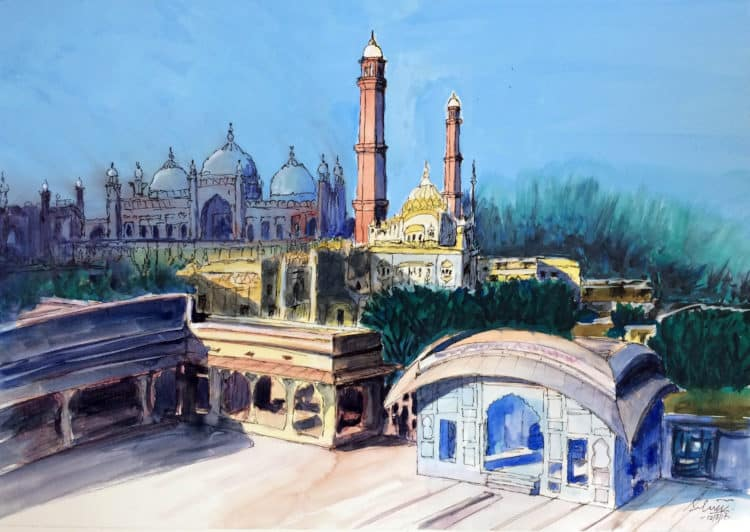 Lahore Fort to Badshahi Mosque Areal