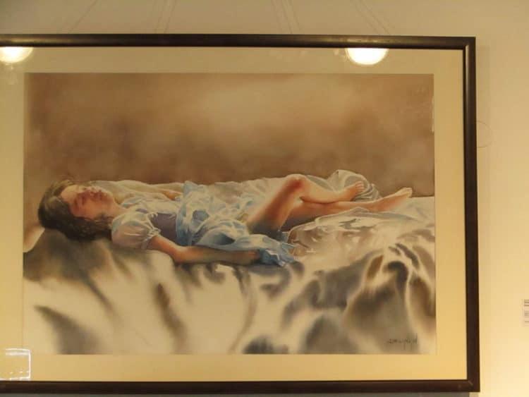 Some glimpses of artworks at the 3rd International Watercolour Biennale 2020, CEAD MUET Jamshoro IMG