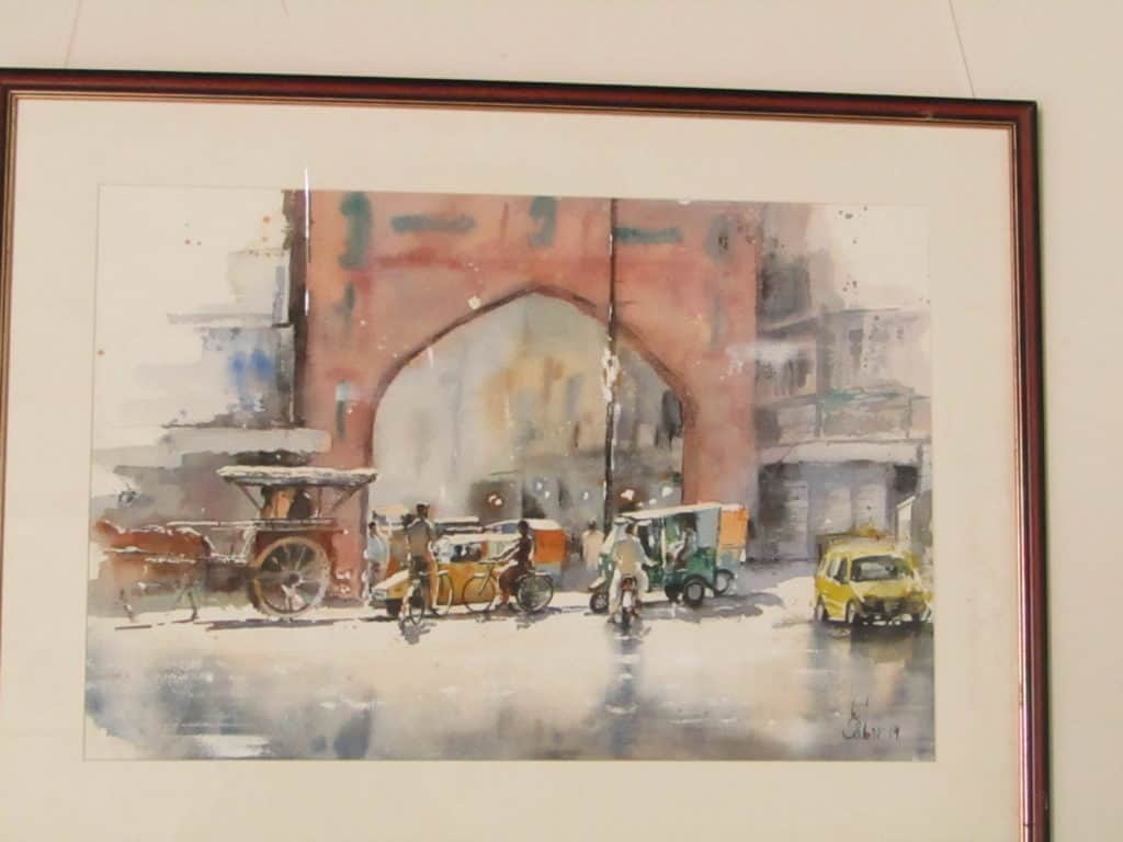 Some glimpses of artworks by Pakistani artists at the 3rd International Watercolour Biennale 2020 at